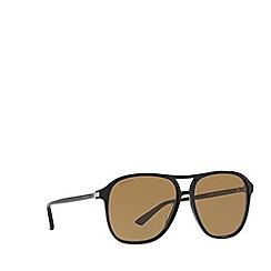 Gucci - Black GG0016S rectangle sunglasses