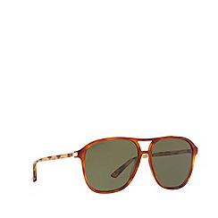 Gucci - Tortoiseshell GG0016S rectangle sunglasses