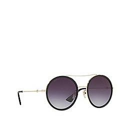 Gucci - Gold GG0061S round sunglasses