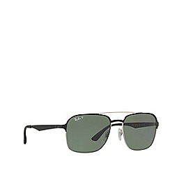 Ray-Ban - Silver  RB3570 square sunglasses