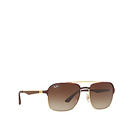 Ray-Ban - Brown RB3570 square sunglasses