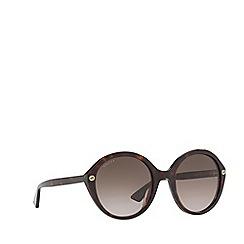 Gucci - Tortoiseshell GG0023S round sunglasses