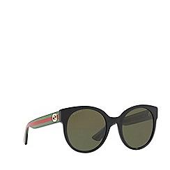 Gucci - Black GG0035S round sunglasses