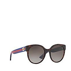 Gucci - Brown 0GC000984 Round sunglasses
