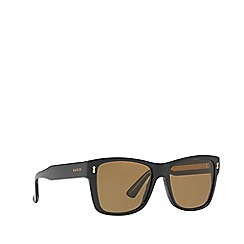 Gucci - Black GG0052S rectangle sunglasses