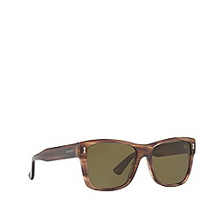 Gucci - Tortoiseshell GG0052S rectangle sunglasses
