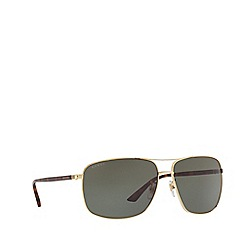 Gucci - Gold GG0065SK rectangle sunglasses