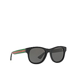 Gucci - Black GG0003S round sunglasses
