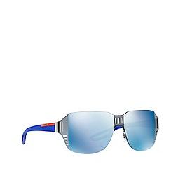 Prada Linea Rossa - Grey PS 05SS irregular sunglasses