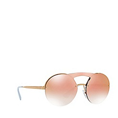 Prada - Gold PR 65TS round sunglasses