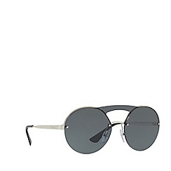 Prada - Silver PR 65TS round sunglasses