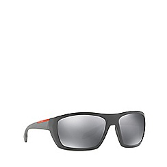 Prada Linea Rossa - Grey PS 06SS rectangle sunglasses