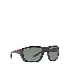 Prada Linea Rossa - Black PS 06SS rectangle sunglasses