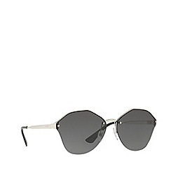 Prada - Silver PR 64TS irregular sunglasses