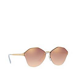 Prada - Gold PR 64TS irregular sunglasses