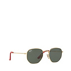 Ray-Ban - Gold 0rb3548nm square sunglasses
