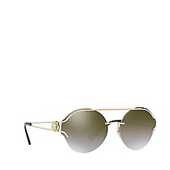 Versace - Gold VE2184 round sunglasses