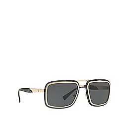 Versace - Gold VE2183 square sunglasses