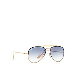 Ray-Ban - Gold rb3584n pilot sunglasses