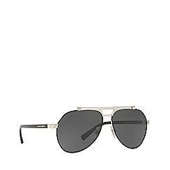 Dolce & Gabbana - Black/Gold DG2189 pilot sunglasses