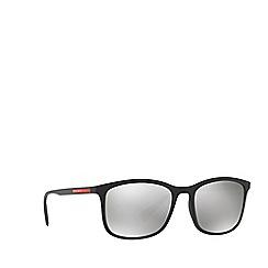 Prada Linea Rossa - Black PS 01TS rectangle sunglasses
