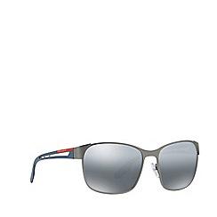 Prada Linea Rossa - Gunmetal PS 52TS pillow sunglasses