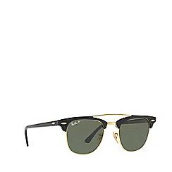 Ray-Ban - Black CLUBMASTER square sunglasses