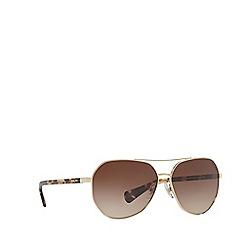 Ralph - Gold RA4123 pilot sunglasses