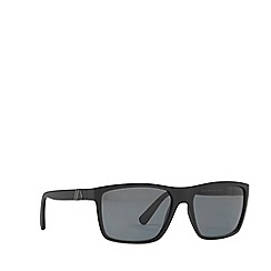 Polo Ralph Lauren - Black 0PH4133 rectangle sunglasses