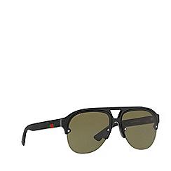 Gucci - Black GG0170S pilot sunglasses