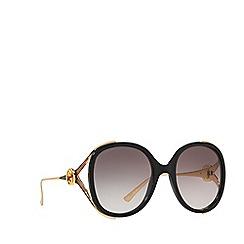 Gucci - Black GG0226S oval sunglasses