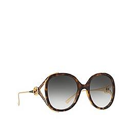 Gucci - Havana GG0226S oval sunglasses
