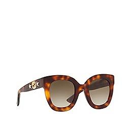 Gucci - Havana GG0208S oval sunglasses