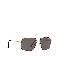 Tom Ford - Gold AIDEN-02 irregular sunglasses