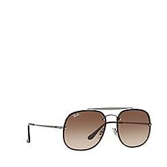 Ray-Ban - Gunmetal 0RB3583N square sunglasses
