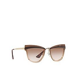 Prada - Brown 0PR 12US cat eye sunglasses