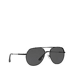Prada - Black 0PR 55US irregular sunglasses