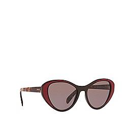 e17d0b6147a4 ... cheapest prada brown 0pr 14us cat eye sunglasses 2c8b7 3556b ...