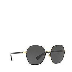 Ralph - Shiny Gold With Black 0RA4124 irregular sunglasses