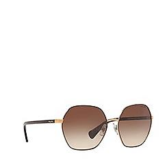 Ralph - Shiny Brown With Brown 0RA4124 irregular sunglasses