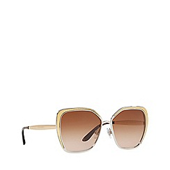 Dolce & Gabbana - Brown 0DG2197 irregular sunglasses
