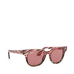 Ray-Ban - Pink meteor square sunglasses