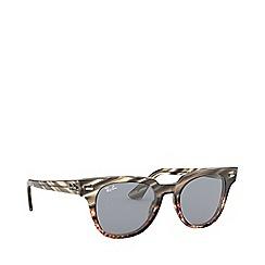 Ray-Ban - Grey meteor square sunglasses