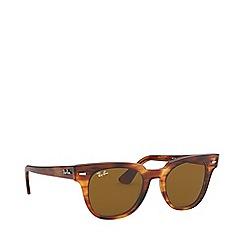 Ray-Ban - Stripped Havana meteor square sunglasses