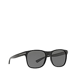 BVLGARI - Top matte black on black 0bv7033 square sunglasses
