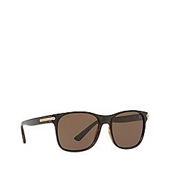 BULGARI - Top matte black on dark havana 0bv7033 square sunglasses
