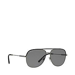 BVLGARI - Black/matte gunmetal 0bv5047q pilot sunglasses