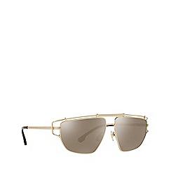 Versace - Black silver stealth square sunglasses