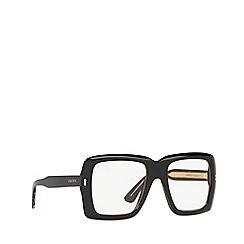 Gucci - Black GG0366S rectangle sunglasses