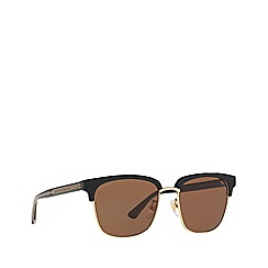 Gucci - Black GG0382S rectangle sunglasses